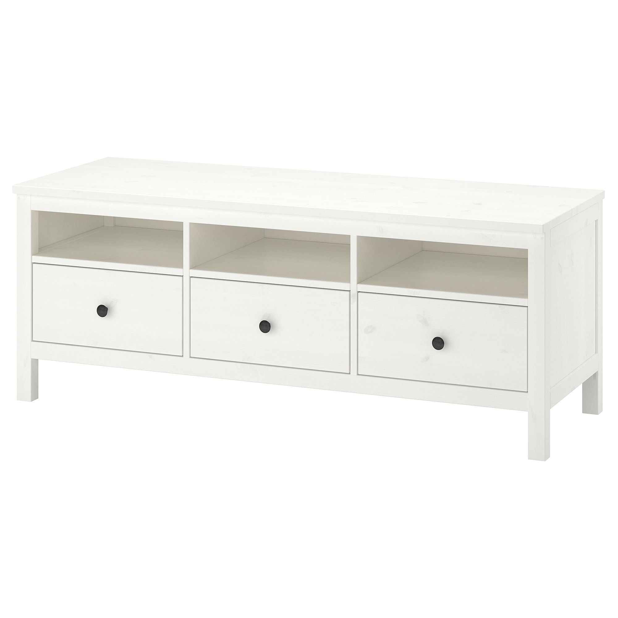 Hemnes Tv Unit White Stain Light Brown 58 1 4x18 1 2x22 1 2