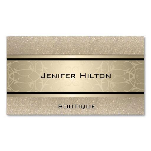 Professional Elegant Modern Luxury Glittery Business Card Zazzle Com Fashion Business Cards Boutique Business Cards Interior Designer Business Card