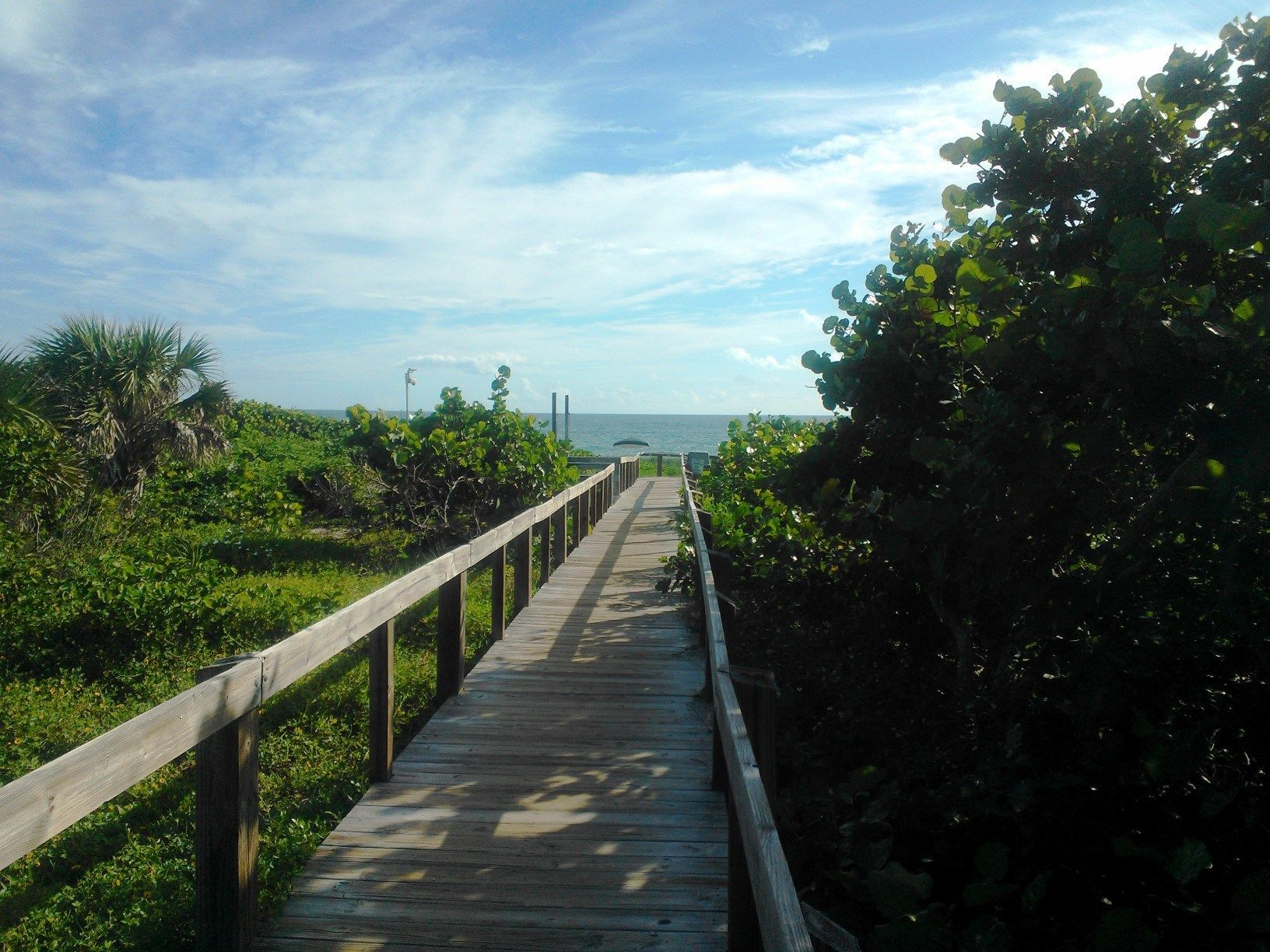 Boardwalk leading to Sebastian Inlet.