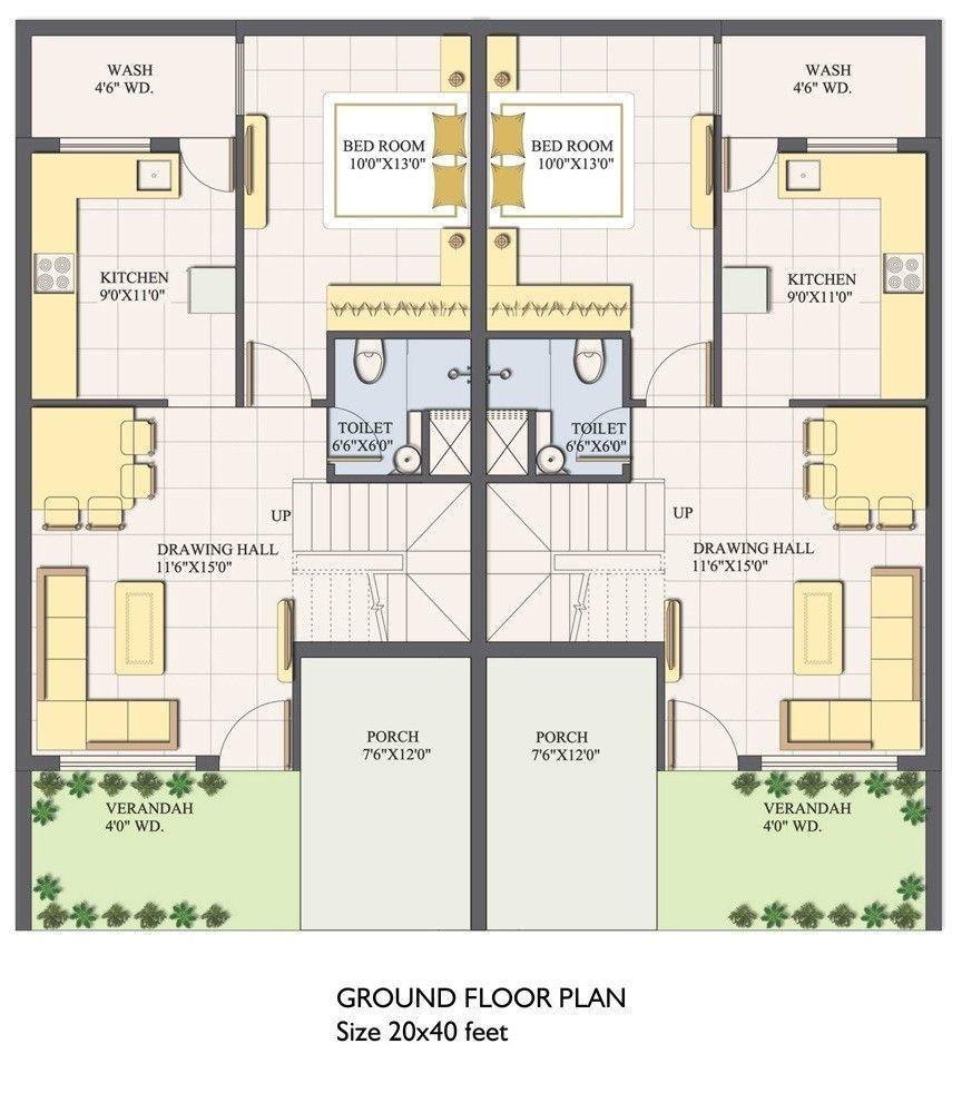 20x40 House Plans South Facing 20x40 House Plans 2bhk House Plan 20x30 House Plans
