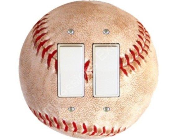Baseball Ball Sport Round Decora Double Rocker Switch ...