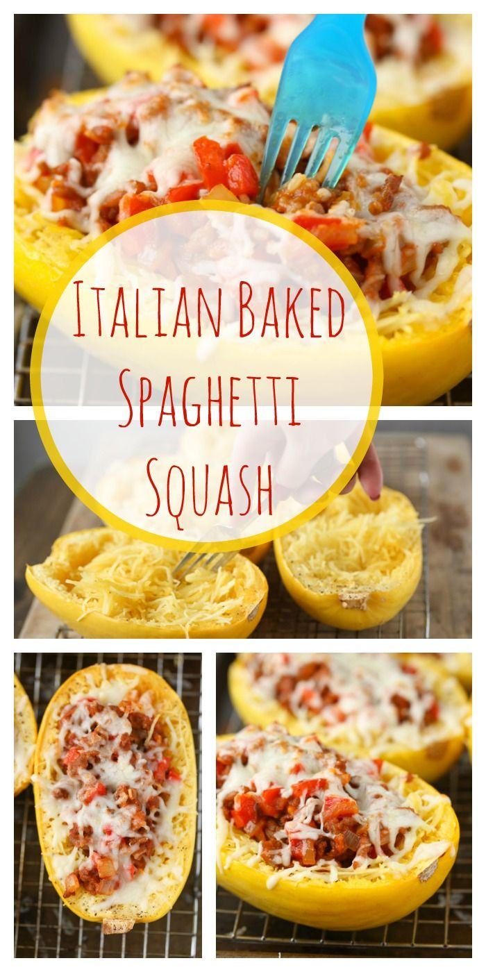 Italian Baked Spaghetti Squash - Super Healthy Kids