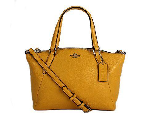 2239d0a1f Coach Pebble Leather MINI Kelsey Satchel Crossbody Handbag, Banana ...