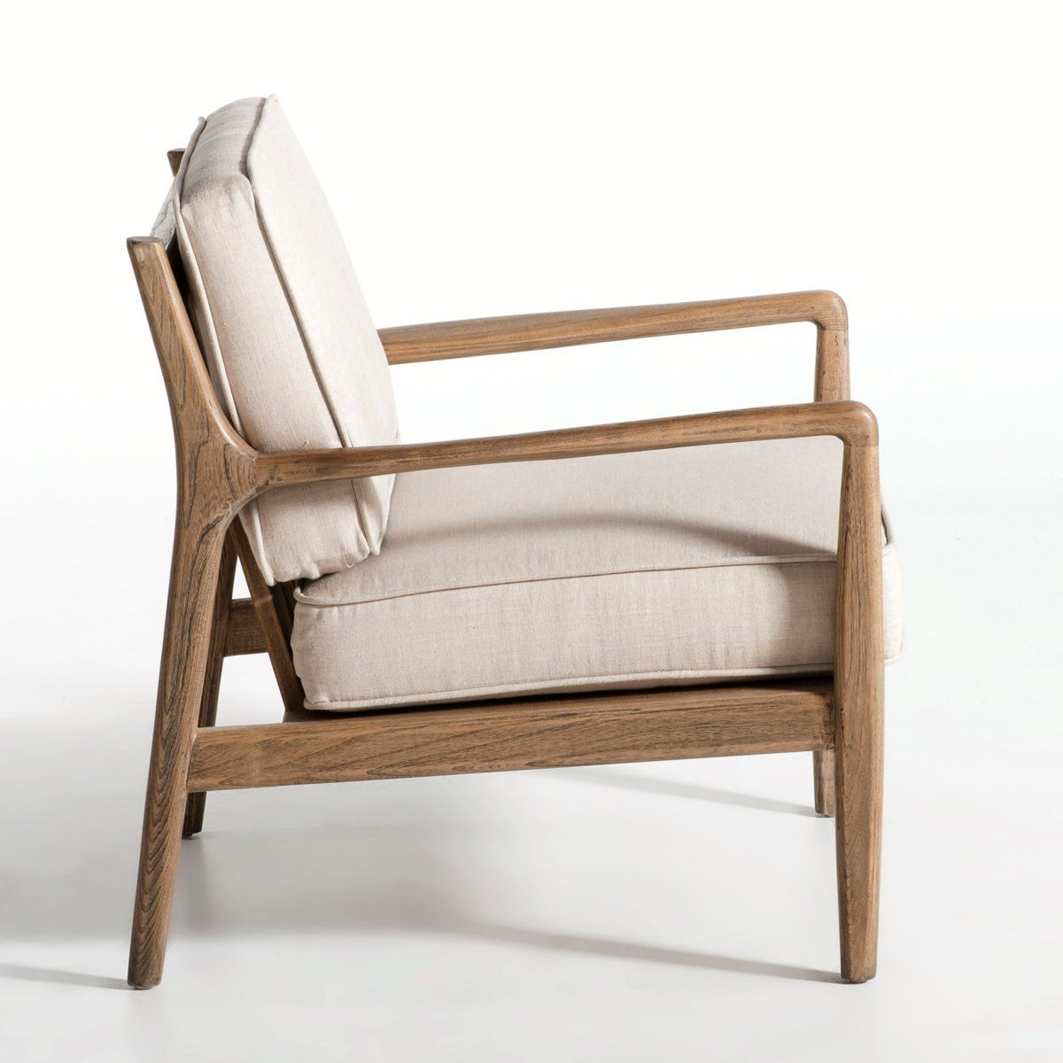 Have A Pretty Similar My Chair Is Designed By Knoll Wood Linen Fauteuil La Redoute Fauteuil Design Ampm Fauteuil