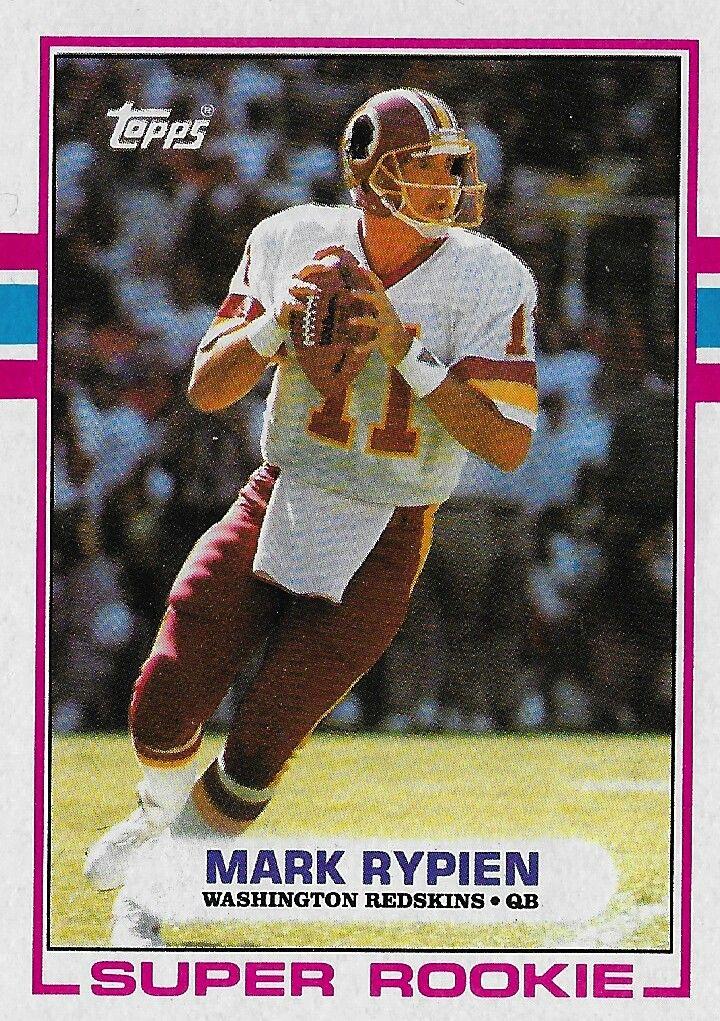 1989 topps mark rypien washington football football