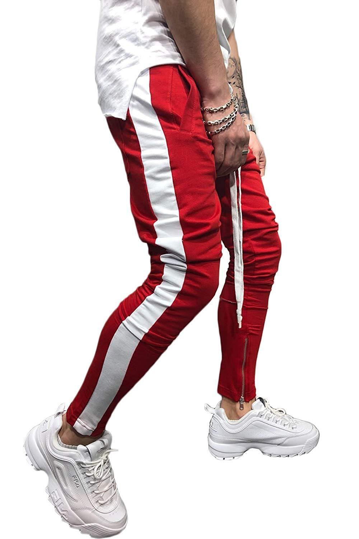 Brooklyn Xpress Mens Slim-Fit Striped Track Joggers