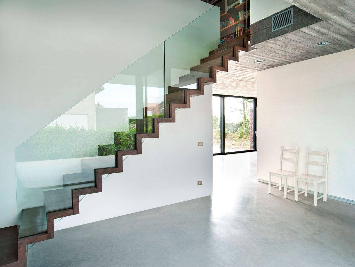 Escaliers moderne trappen demunster waterven heule trap