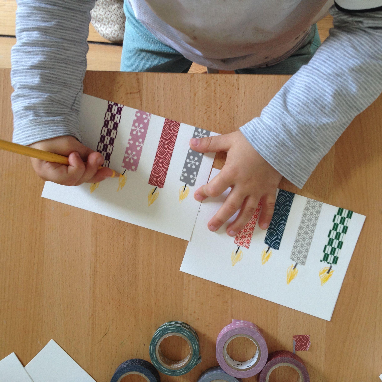 Perfekt #Kindergeburtstag: #Einladungskarten Ganz Einfach Selber #basteln #DIY  #Washitape