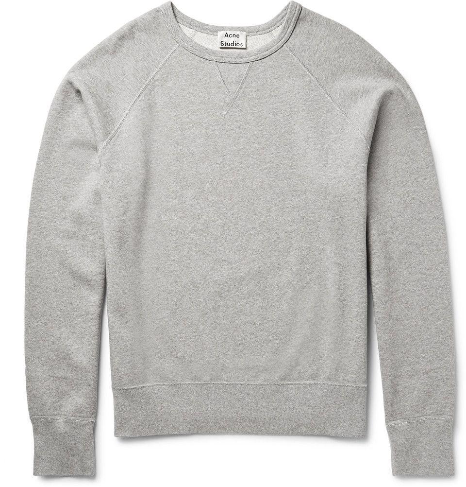 a86df3c5324a Acne Studios College Loopback Cotton-Jersey Sweatshirt ($190 ...