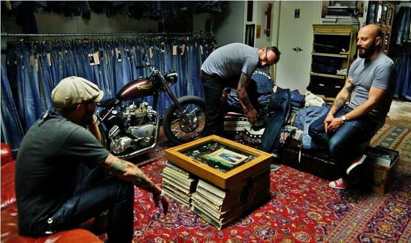 Blue blanket antonio di battista jeans denim italy prescara david