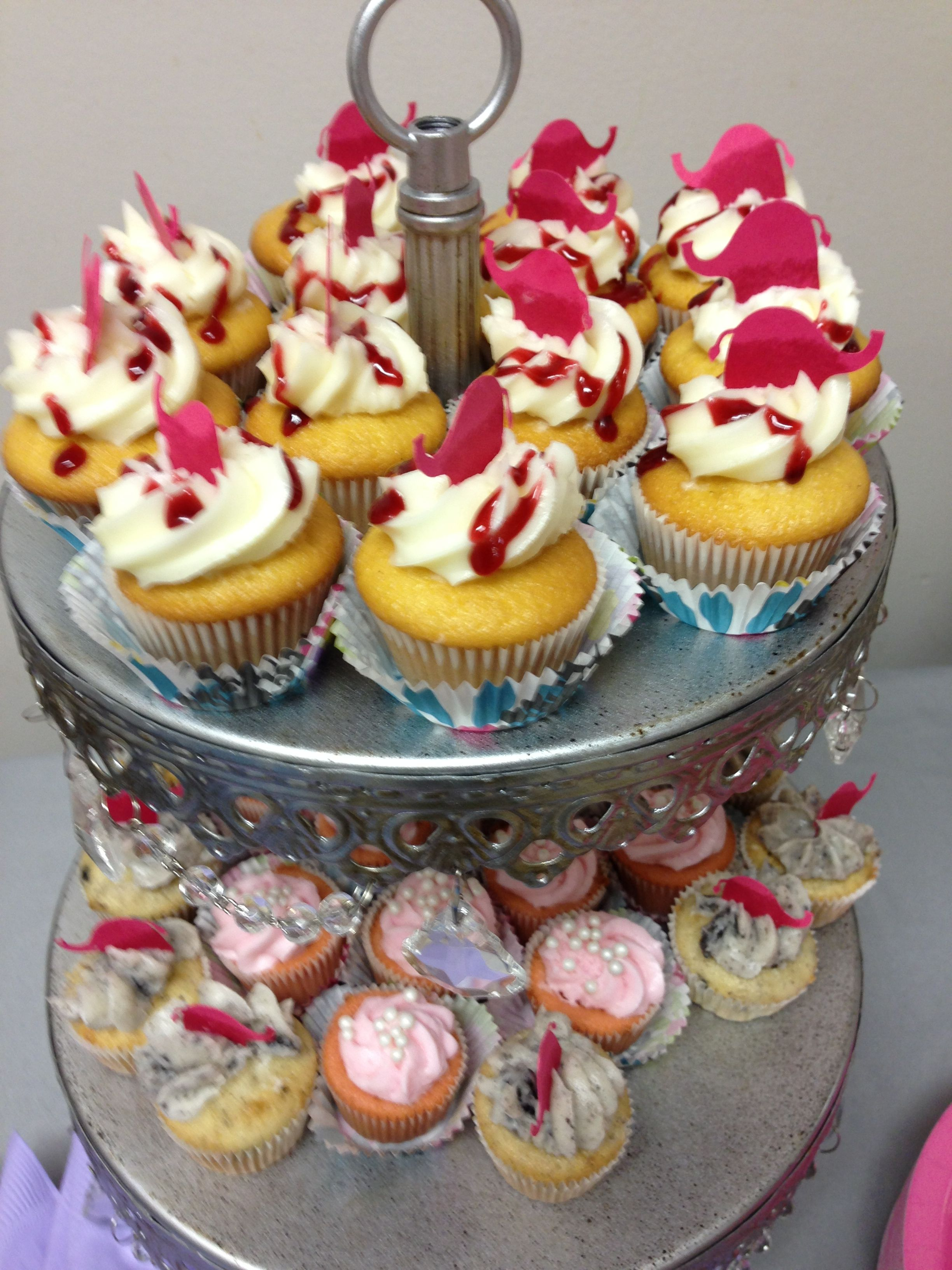 Assorted Mini Cupcakes with baby pink elephants