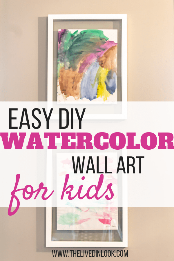 Get Your Kids Involved In Decorating Easy Diy Watercolor Wall Art