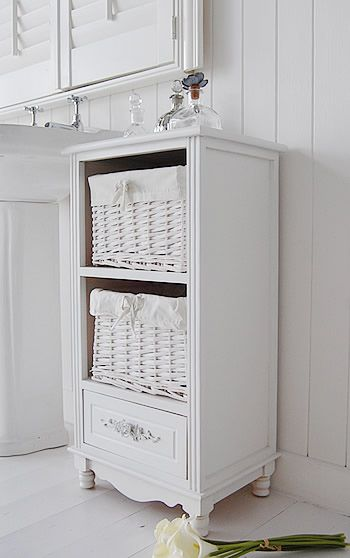 The Side View To Show The Rose Free Standing Bathtoom Storage Cabinet