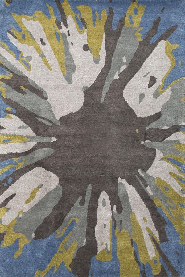 Jaipur Rugs Traverse Inked Ensign Blue (TV-36) Area Rugs