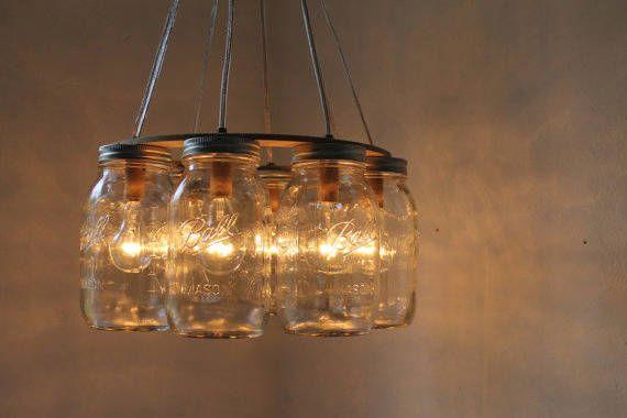 Lampada Barattolo Di Latta : Barattoli di vetro come lampada mason jars pinterest case