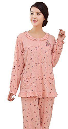 Km Women Autumn Round Collar Nightgown Suit Long Sleeve Cotton Pajamas Suit (XL) KM pajamas http://www.amazon.com/dp/B0140JJUMU/ref=cm_sw_r_pi_dp_sdCiwb0J3G1GK