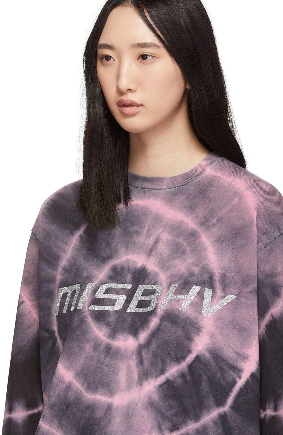 Misbhv Black Pink Tie Dye Logo Club Wear Solution T Shirt Ssense Women Black Tie Dye Clubwear [ 1428 x 928 Pixel ]