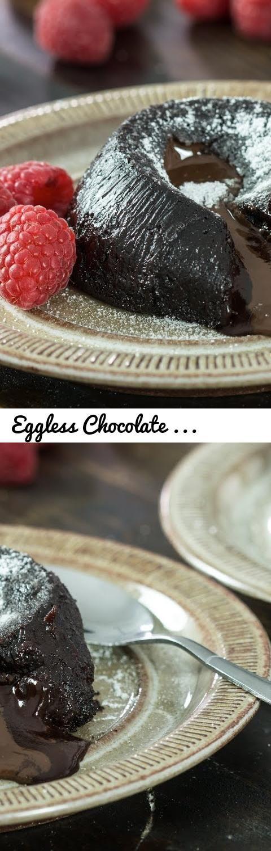 Eggless Chocolate Lava Cake Recipe... Tags: eggless ...