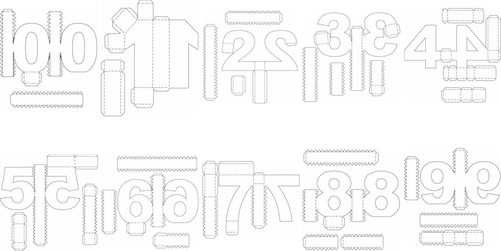 Pin De Alba Rosario En Alba Numeros 3d Moldes De Letras Moldes Para Hacer Letras Moldes De Numeros