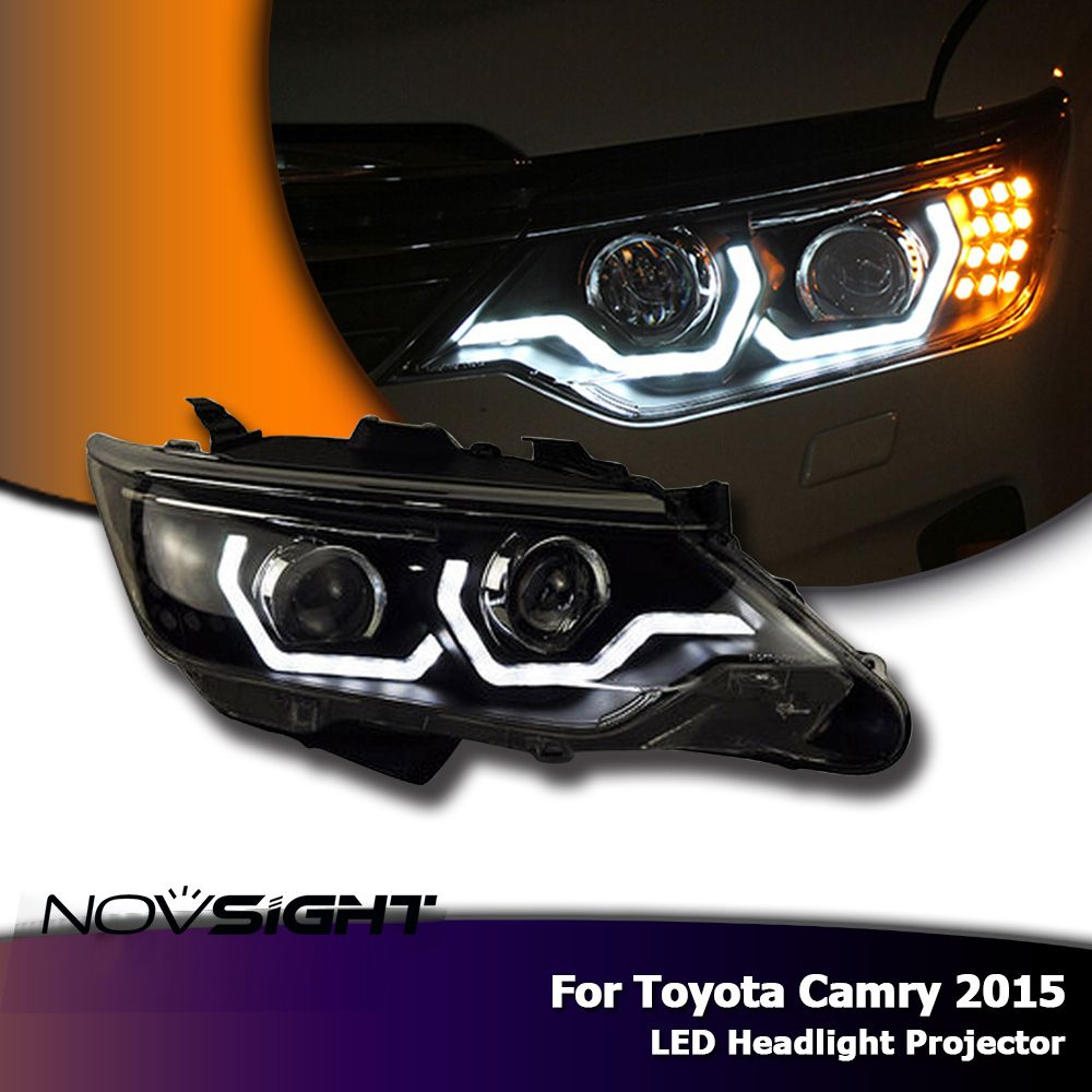 NOVSIGHT Auto Car LED Headlights Projector Headlamp DRL Light