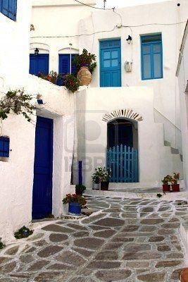 Mediterranean white & blue
