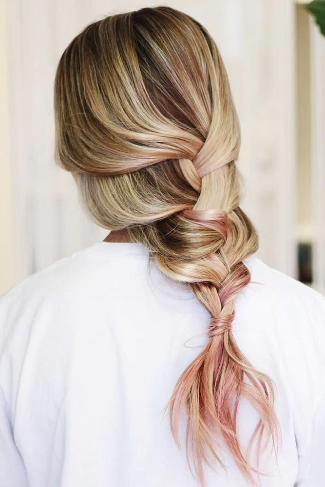 Top 54 Dirty Blonde Hair Styles Pinterest Pink Highlights