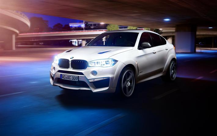 Lataa kuva AC Schnitzer, tuning, BMW X6 Falcon, F86, tie, valkoinen x6, saksan autoja, BMW