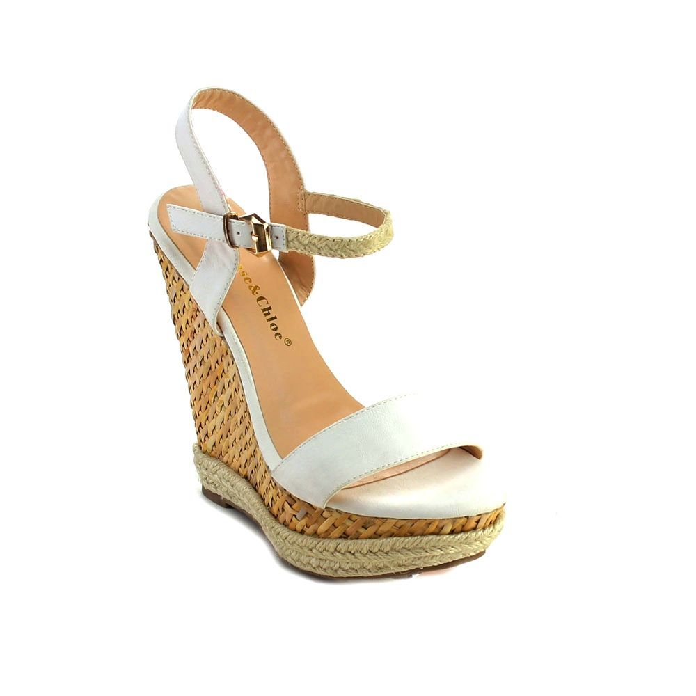 discount Inexpensive discount huge surprise Chloé Woven Ankle-Strap Wedges pEPio