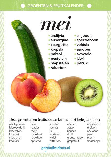 Verwonderlijk Seizoensgroenten mei   Fruit voordelen, Groenten, Gezonde maaltijden SV-35