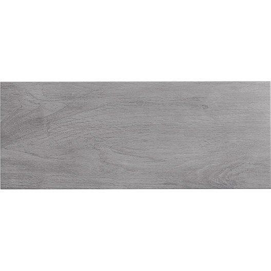 Faïence mur gris, Cottage l20 x L50 cm déco perso Pinterest - Stratifie Mural Salle De Bain