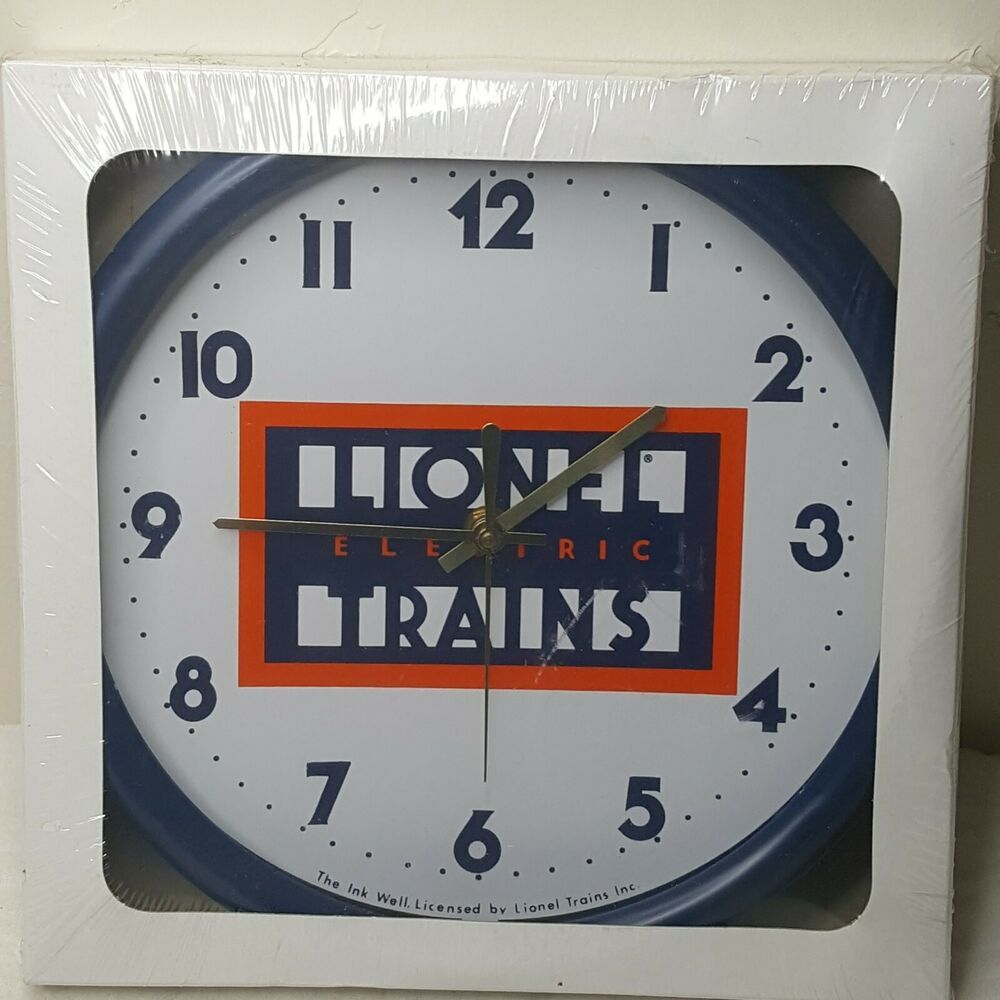 Lionel Electric Trains 10 Inch Wall Clock New In Sealed Box Ebay In 2020 Wall Clock Clock Electric Train