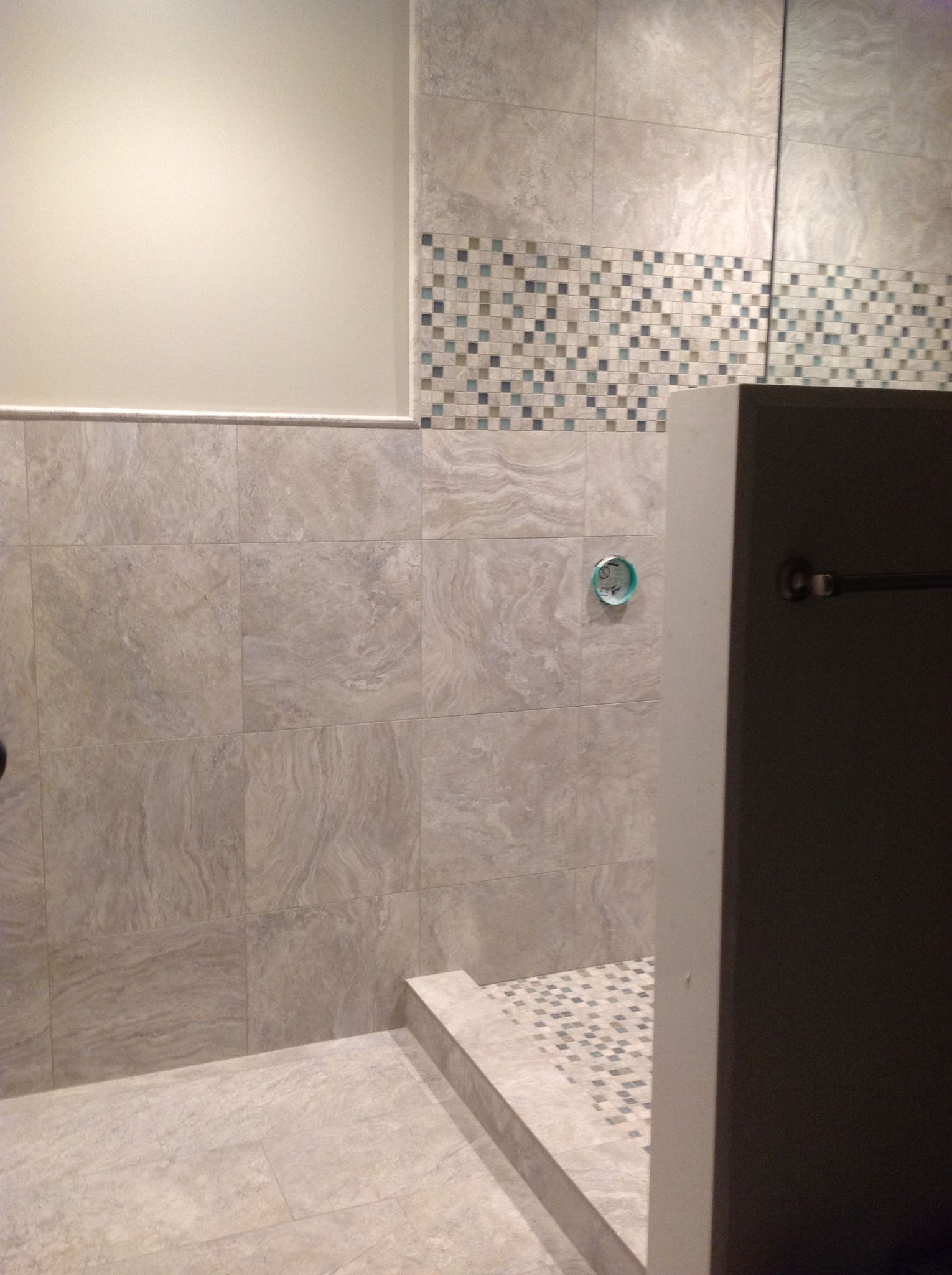 shower wall tile transition shower