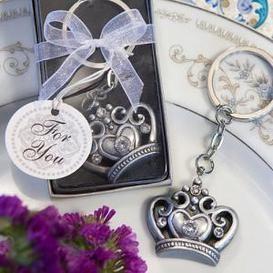 Crown design keyring wedding favor