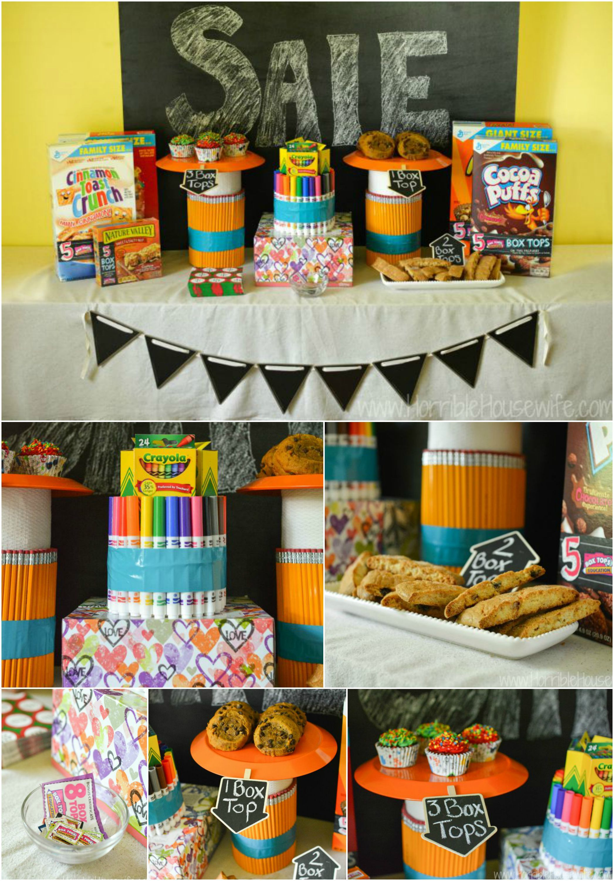 how to collect box tops at a back to school bake sale | back to