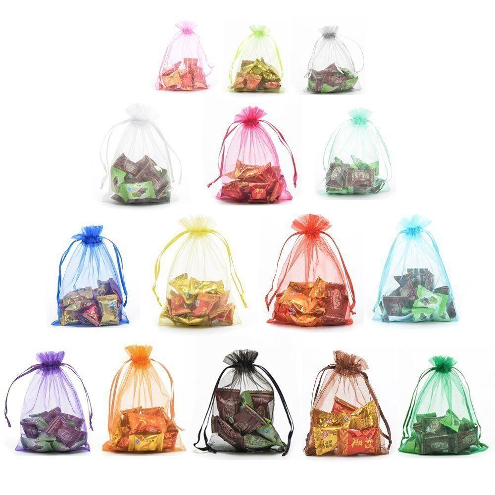 3486ea87690e Yansanido Organza Wedding Favour Gift Bags 13x18cm /5x7 Inches ...
