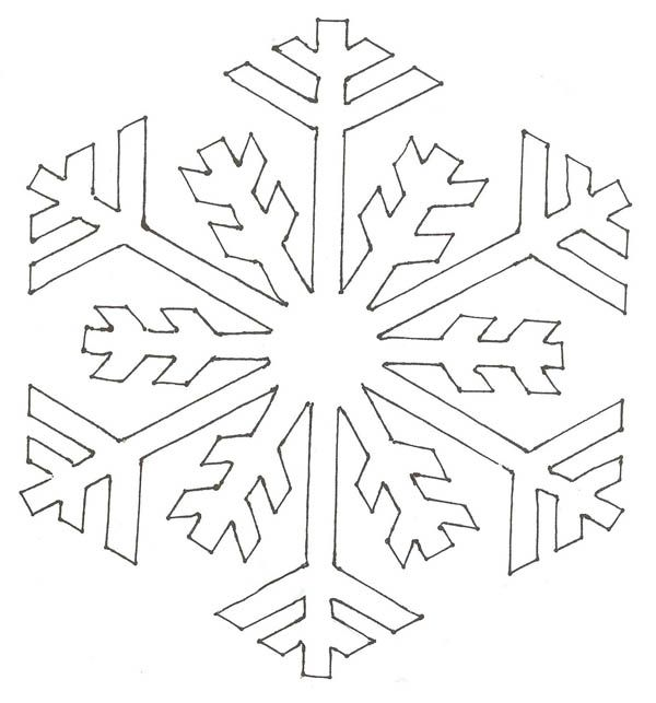 Christmas, : Christmas Snowflakes Simple Pattern Coloring Page ...