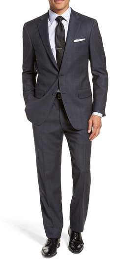 82e9d6a52ff Hart Schaffner Marx New York Classic Fit Stretch Plaid Wool Suit ...
