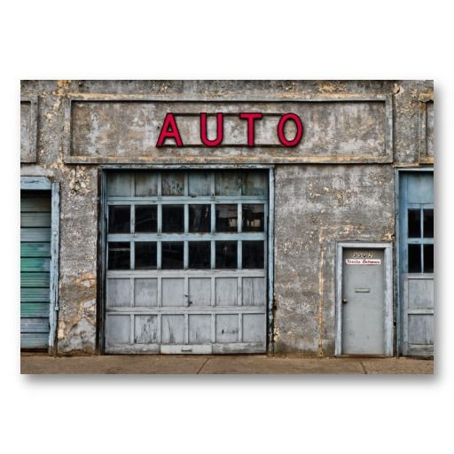 Abandoned Autobody Shop Business Card