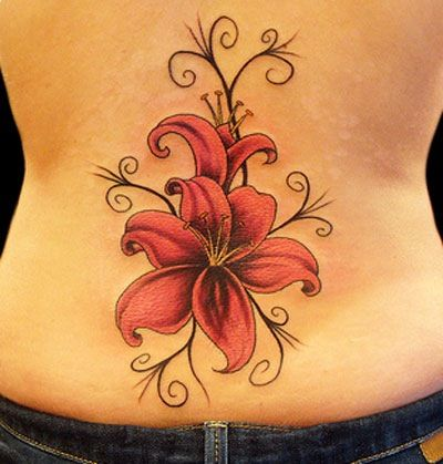 Black Lilly. Lilly's tattoo, just needs to be in black and on the back of her neck.