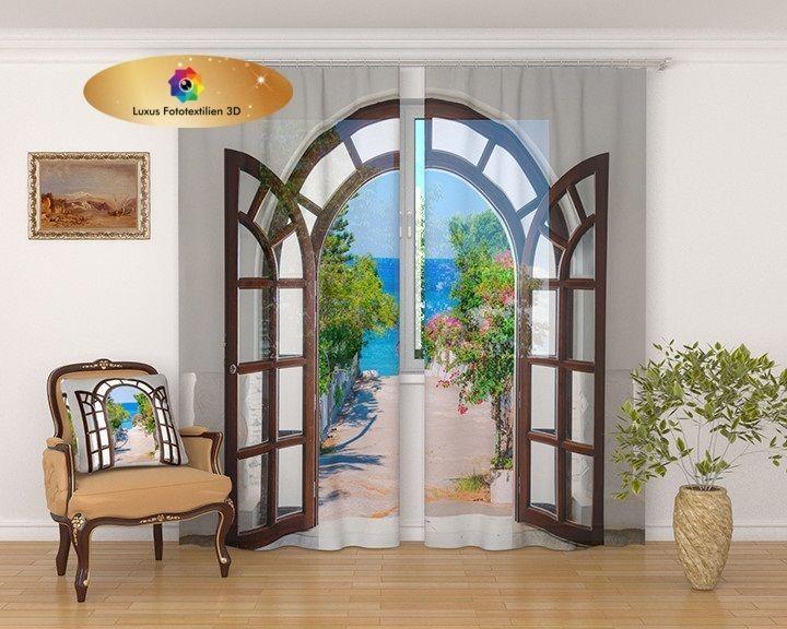Gardinen Vorhänge günstig bei Ebayde kaufen Fotovorhang 3D - gardinen und vorhänge für wohnzimmer