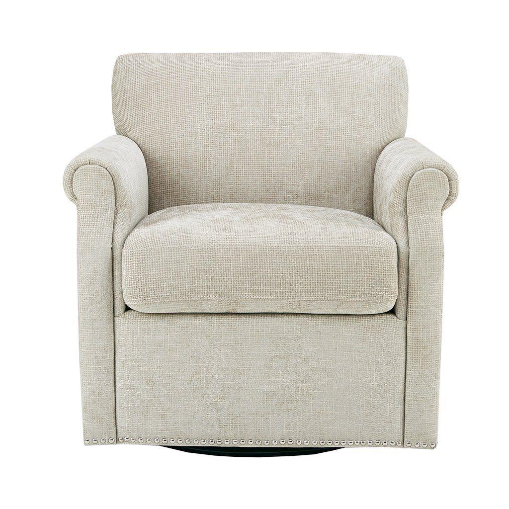 Aldrich Swivel Chair Cream See Below Swivel armchair