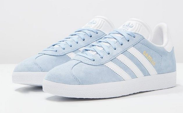Adidas Originals GAZELLE Baskets basses clear sky/white/gold metallic prix  promo Baskets femme