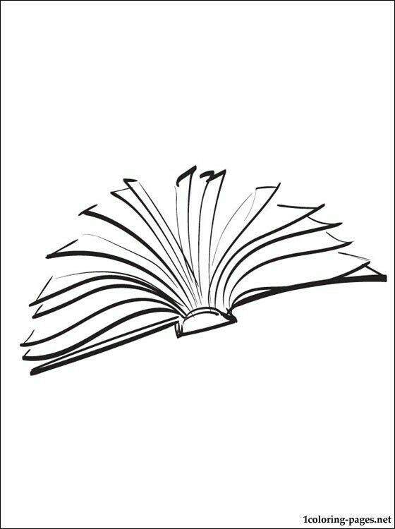 Flat open book simple drawing   «art»   Open book tattoo