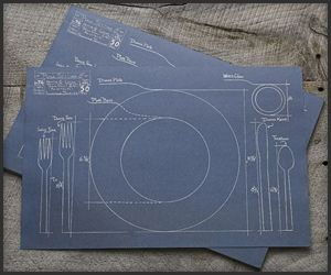 Blueprint placemats great idea for training take my money blueprint placemats great idea for training malvernweather Choice Image