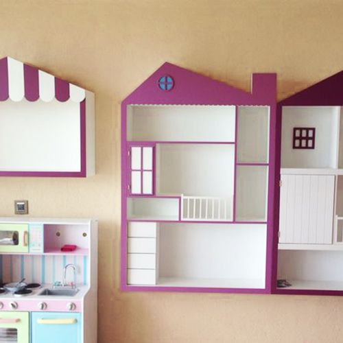 Libreros jugueteros de casita recamara ni a pink for Como decorar una casa chica
