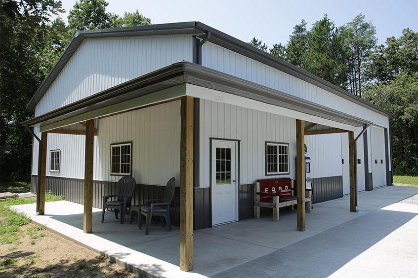 Pole Barn Or Stick Built Garage Pole Barn Garage Building A Pole Barn Pole Barn House Plans