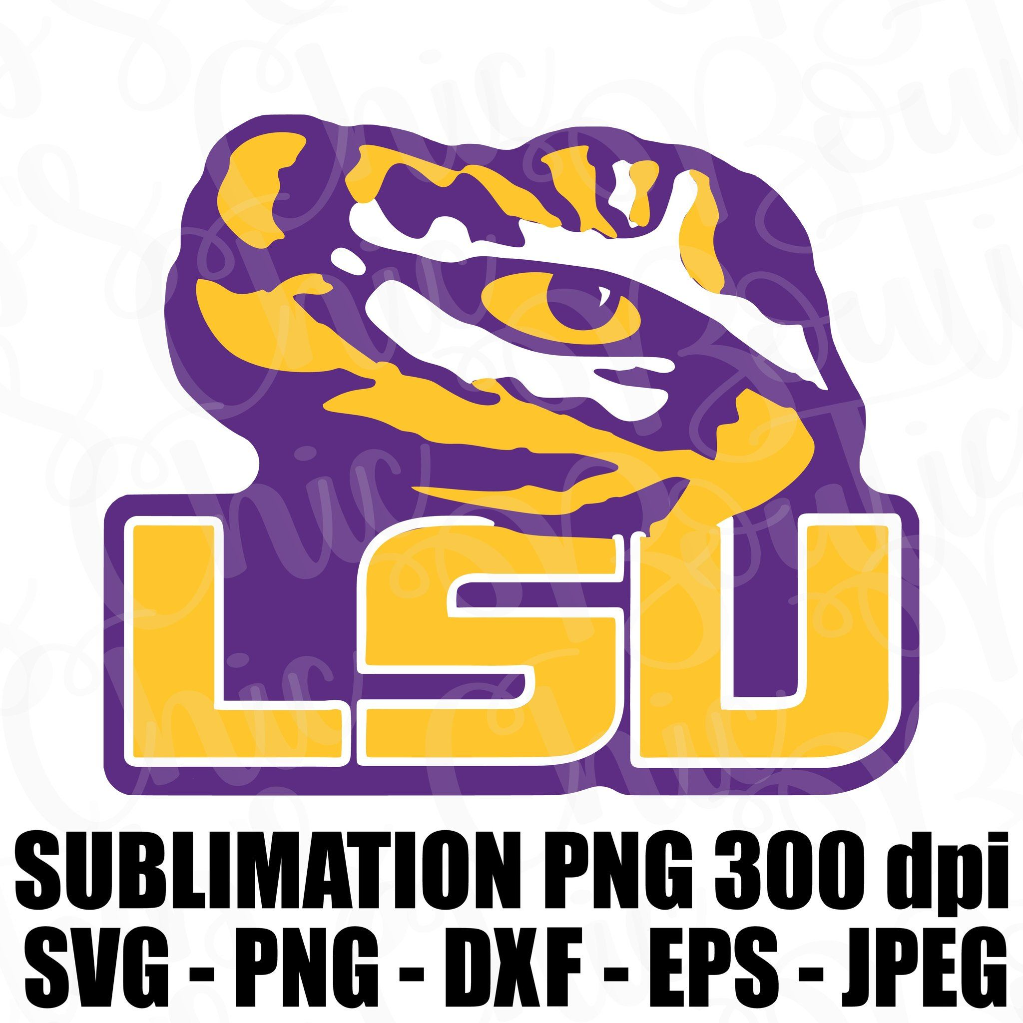 Lsu Tigers Louisiana State University Logo Svg Jpeg High Def 300 Dpi Png Dxf Topper Sublimation Iron On Football In 2020 Lsu Tigers Football Lsu Football Logo