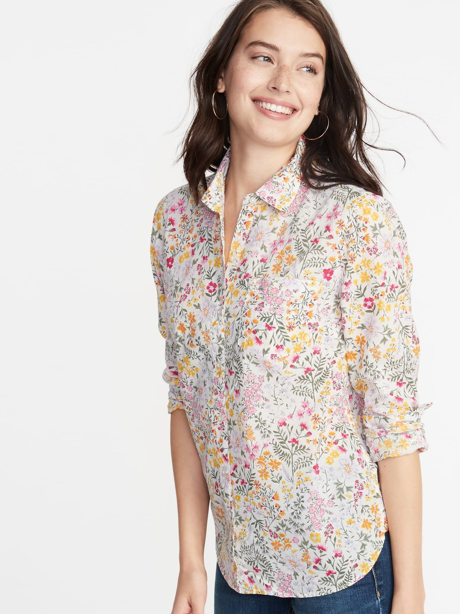 58ff7551288711 Relaxed Printed Classic Shirt for Women in 2019 | Dressed. | Dress ...