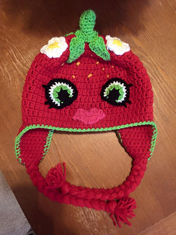 Crochet Shopkins Style Hat by Hooklineandhats on Etsy   Gorros ...