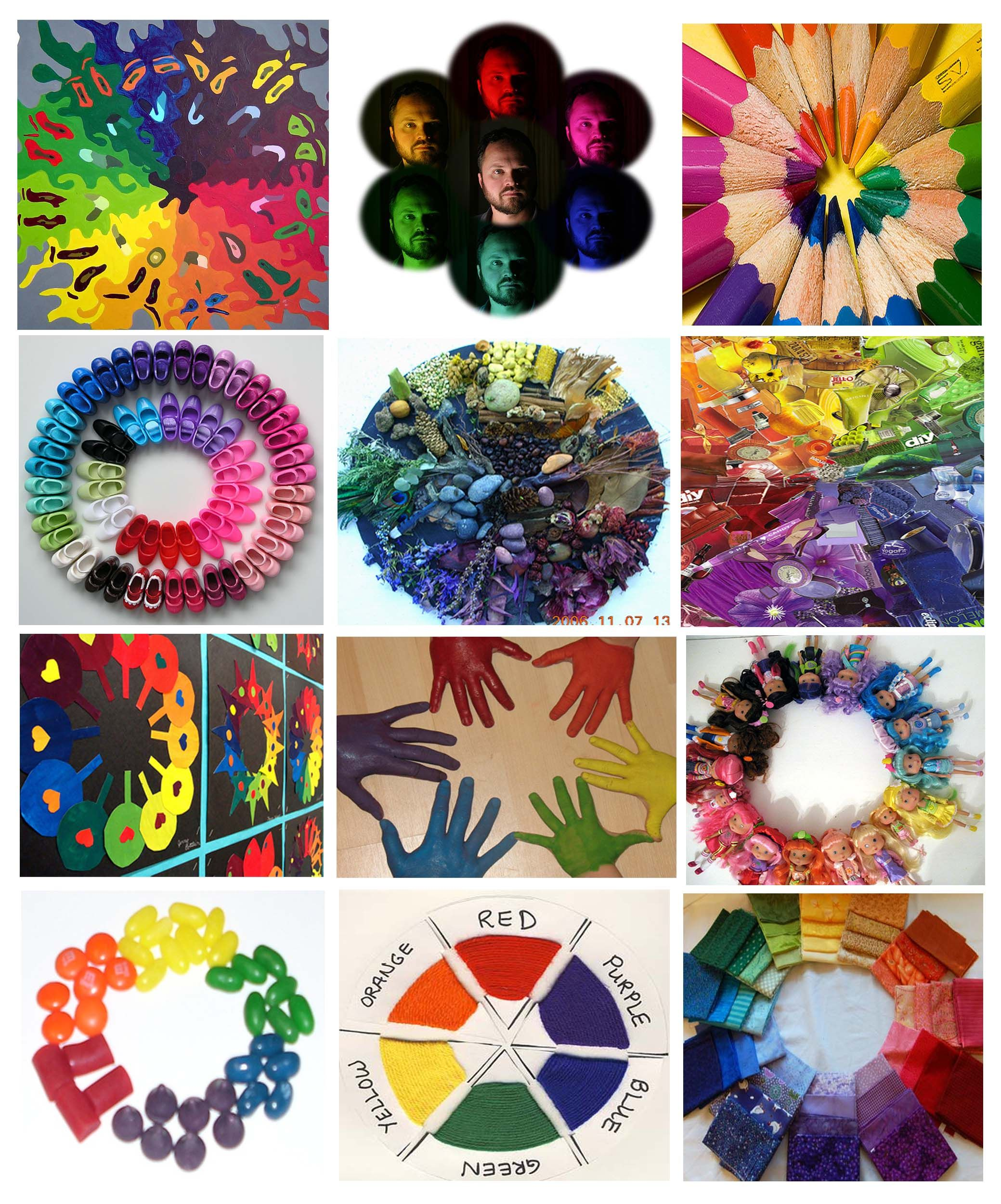 Creative Color Wheels Cut Out Images For Collage Or Have Students